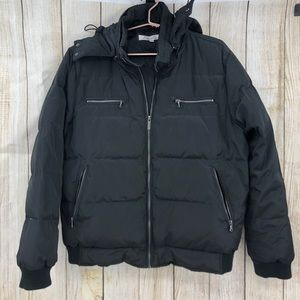 Kenneth Cole quilted down black jacket